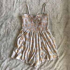 BilIabong Smocked Romper with Removable Straps